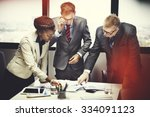 business team meeting... | Shutterstock . vector #334091123