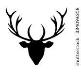 deer head silhouette  ... | Shutterstock .eps vector #334096358