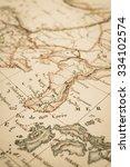 antique world map  south korea | Shutterstock . vector #334102574