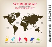 world map infographic vector. | Shutterstock .eps vector #334106963