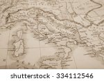 antique world map  italy | Shutterstock . vector #334112546