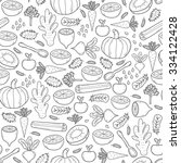 seamless hand drawn background... | Shutterstock .eps vector #334122428
