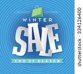 winter sale poster design... | Shutterstock .eps vector #334126400