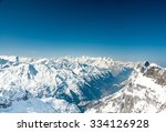 Alps Mountain Landscape. Winte...