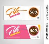 gift voucher template modern... | Shutterstock .eps vector #334129853