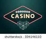 casino sign | Shutterstock .eps vector #334146110