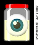 jar with staring eye   vector | Shutterstock .eps vector #33414889