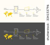 travel infographics. buy air... | Shutterstock .eps vector #334153796