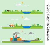 gradual pollution. construction ... | Shutterstock .eps vector #334172246