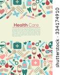medical flyer background.... | Shutterstock .eps vector #334174910
