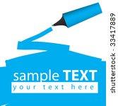 vector   highlighter pen...   Shutterstock .eps vector #33417889