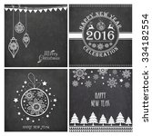 set of creative greeting cards... | Shutterstock .eps vector #334182554