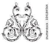 vintage baroque frame scroll... | Shutterstock .eps vector #334184564