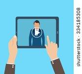 webinar  online conference ... | Shutterstock .eps vector #334185308