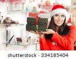 Christmas Girl Holding Present...