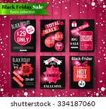 black friday sale banners ... | Shutterstock .eps vector #334187060