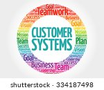 customer systems circle stamp... | Shutterstock .eps vector #334187498