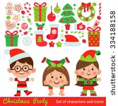 vector set of characters and... | Shutterstock .eps vector #334188158