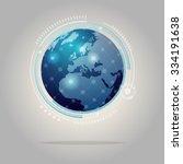 world of digital and...   Shutterstock .eps vector #334191638