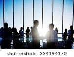 business people meeting... | Shutterstock . vector #334194170