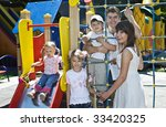 family and three children in... | Shutterstock . vector #33420325