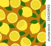 lemons. seamless pattern.   Shutterstock .eps vector #334203953