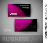 business card template with... | Shutterstock .eps vector #334210673