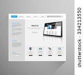modern clean business website... | Shutterstock .eps vector #334213550
