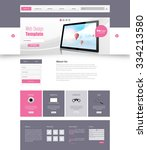 modern clean business website... | Shutterstock .eps vector #334213580