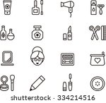 cosmetic icons | Shutterstock .eps vector #334214516