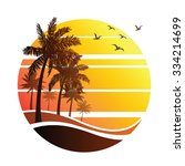 summer vacation on tropical... | Shutterstock .eps vector #334214699