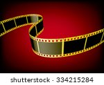 vector film strip 3d  gold  | Shutterstock .eps vector #334215284