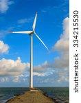 sea path leading to danish wind ... | Shutterstock . vector #334215530