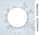 christmas frame with snowflakes | Shutterstock .eps vector #334219808