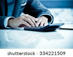 man analysis business accounting | Shutterstock . vector #334221509