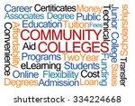 community colleges word cloud... | Shutterstock . vector #334224668