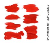 red abstract stroke set.... | Shutterstock . vector #334228319