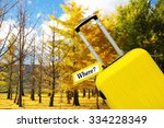 where  . suitcase with label. | Shutterstock . vector #334228349