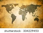 vintage map of the world   Shutterstock . vector #334229453