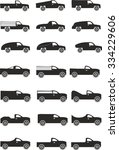 cars and trucks | Shutterstock .eps vector #334229606
