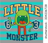 little monster vintage garment... | Shutterstock .eps vector #334236728