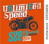 unlimited speed typography with ... | Shutterstock .eps vector #334236836