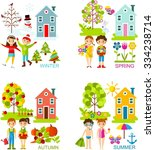 set of vector illustration... | Shutterstock .eps vector #334238714