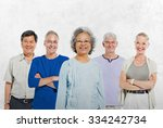 Mullti Ethnic Senior Group Of...