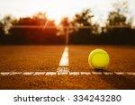 ball on a tennis court   Shutterstock . vector #334243280