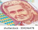 Old 1000 Lire. Italian Banknote