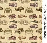 seamless vintage car background. | Shutterstock .eps vector #334250213