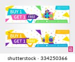 vector colorful promotion... | Shutterstock .eps vector #334250366