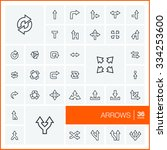 vector thin line icons set and... | Shutterstock .eps vector #334253600