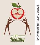 life health design  vector... | Shutterstock .eps vector #334260026